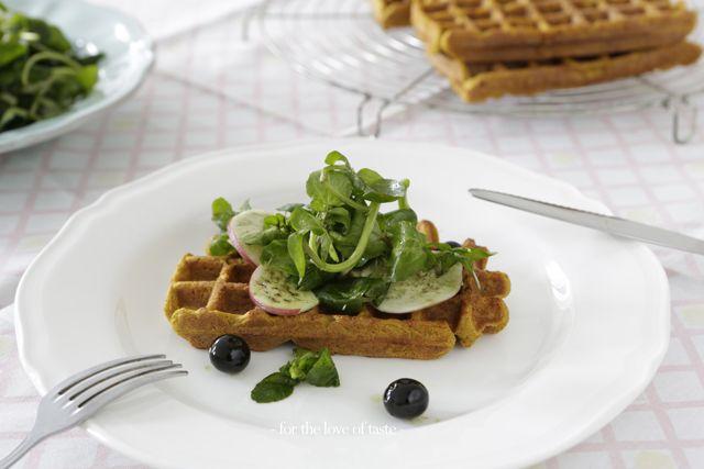 Gluten free waffle recipe   Savory pumpkin waffle- gltn free /// Hartige pompoen wafel - gltn vrij