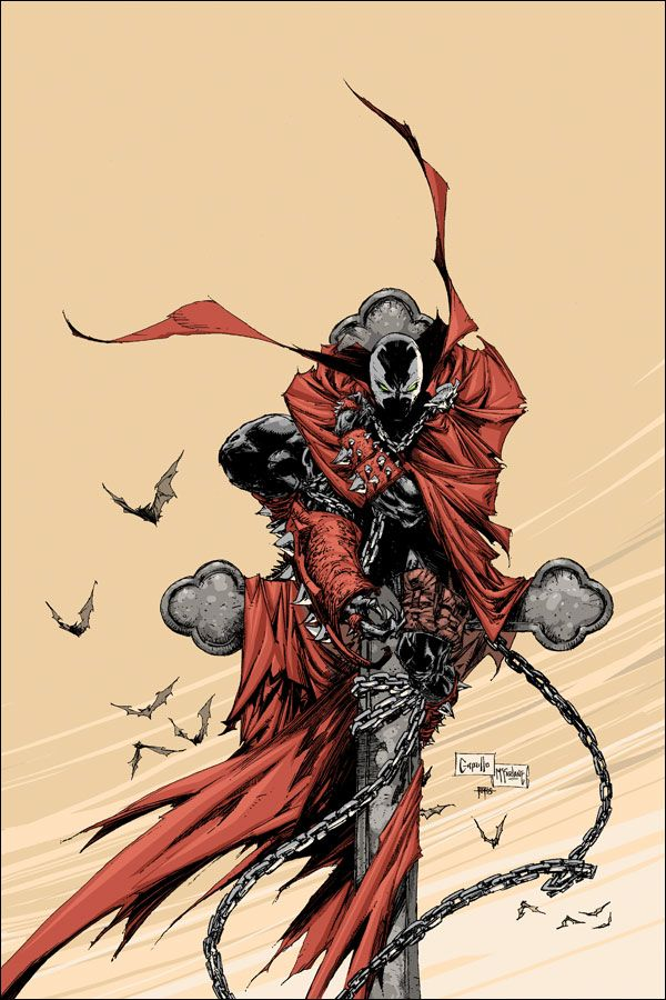 Spawn #194 cover by Greg Capullo, inked by Todd McFarlane