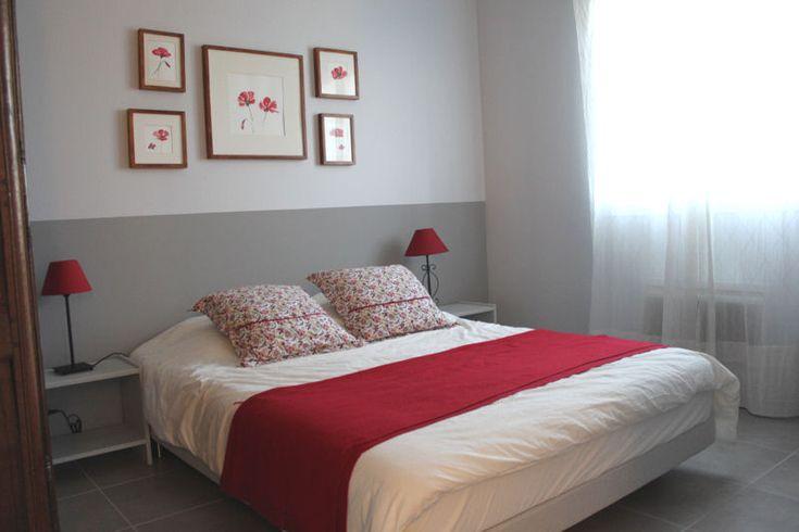 chambre romantique blanche et grenadine