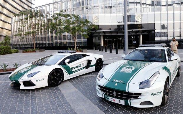 First a Lamborghini - now Dubai unveils police Ferrari