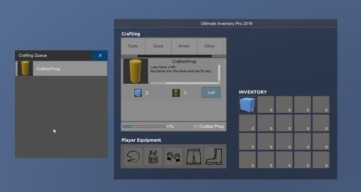 Ultimate Inventory 5 PRO  is the ultimate inventory solution for any game. It does use Unity 5 UI which is fast and reliable.  Visit the official website here: http://uinventory.esy.es/  It is available at two versions the PRO and the Survival. The Survival is not available yet but anyone who bought the PRO will get an extra discount.  This version (PRO) contains:  Inventory with unlimited number of items. Inventory with unlimited number of slots. Smooth Drag & Drop Advance...
