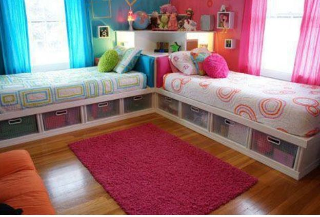 Twin girls bedroom future pinterest girls bedroom for Bedroom ideas for girls sharing a room