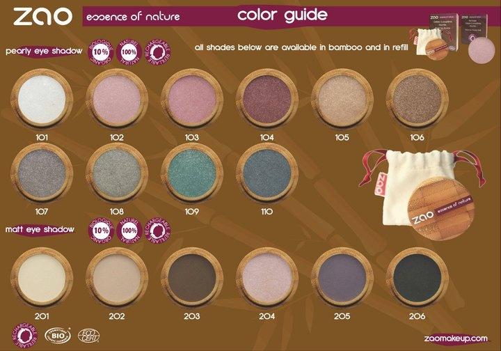 Cienie do oczu ZAO MAKE-UP ORGANIC - Matowe i perłowe - baw się makijażem do woli! Zmieniaj kolory, eksperymentuj, z naszymi zamiennymi wkładami jest to wspaniała zabawa!  http://biolander.com/produkty/producent/zao-make-organic/