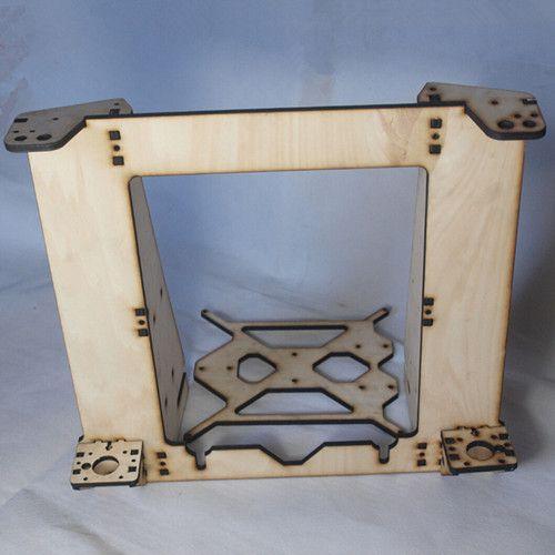 3D printer parts reprap mendel prusa I3 improved laser cut frame wooden in 6mm plywood