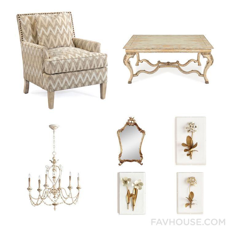 Decor Things With John-Richard Accent Chair Acacia Wood Furniture Ceiling Light And Gilt Mirror From October 2016 #home #decor
