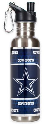 NFL Dallas Cowboys 26-Ounce Stainless Steel Water Bottle