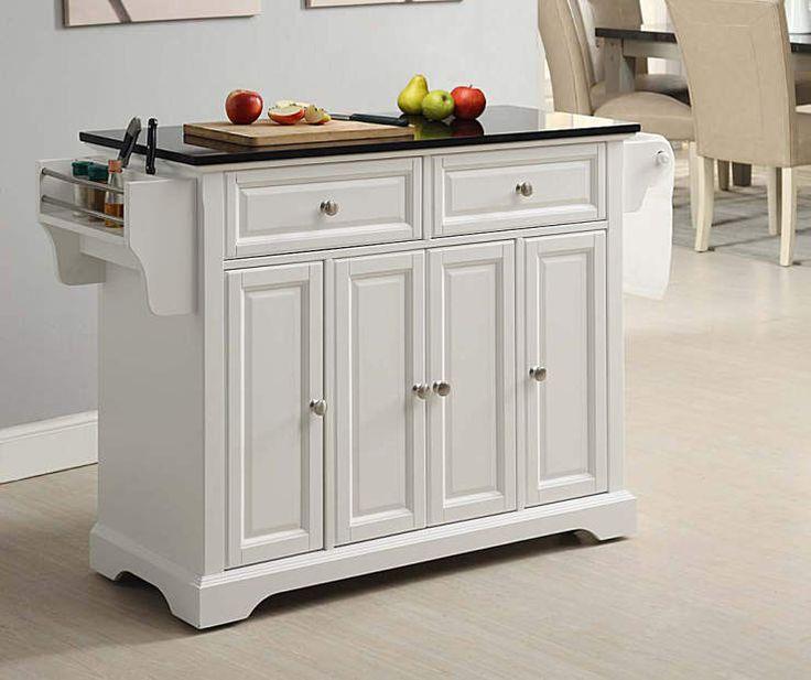 Granite Top  Door White Kitchen Cart Big Lots