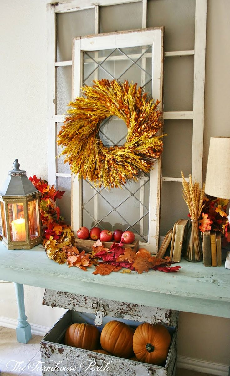 The farmhouse porch if you give linsey a home goods for Autumn window decoration