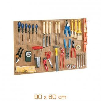 Kit panneau porte-outils isorel + 40 crochets + 1 barrette porte-outils