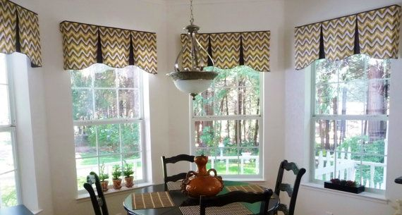 "Custom Window Valance EMILEE Hidden Rod Pocket Valance to fit 44""- 60"" window, Your fabrics, my LABOR and lining on Etsy, $140.00"