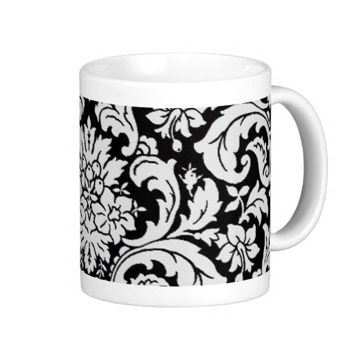 Black and White Floral Mugs