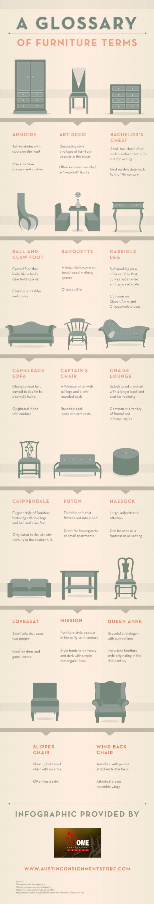 18 best images about chair styles and types on pinterest for Chair design terminology