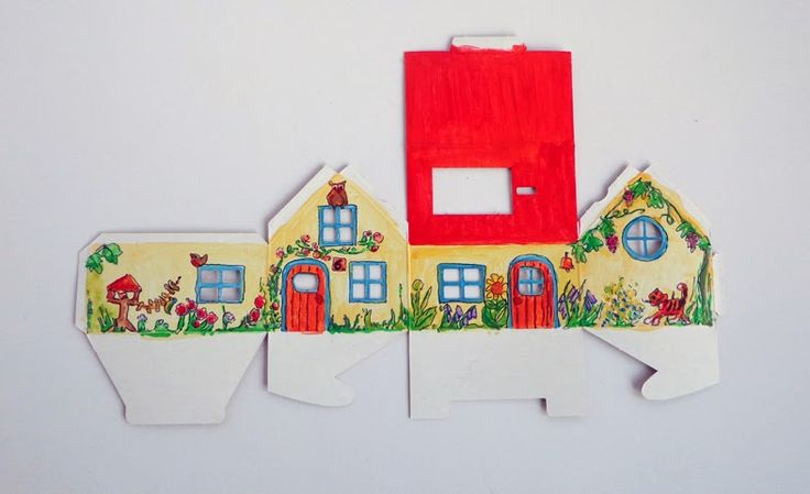 DIY: Kartonnen (Casagami) huisje met een zonnepaneel in elkaar zetten en beschilderen.
