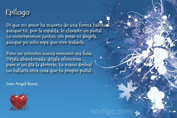 Epílogo poema de Jose Angel Buesa