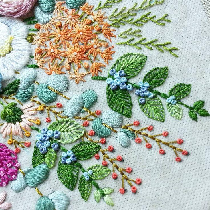 #embroiderydesign #stitching #flower #꽃도안작업#스티치