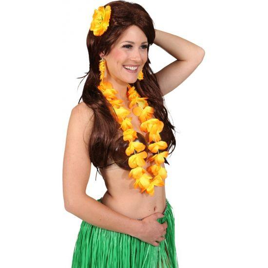 Gele Hawaii set voor dames. Hawaii of tropisch feestje? Bij Fun en Feest vind je de leukste Hawaii feestartikelen, kostuums en accessoires. Toppers Crazy Summer accessoires tip!