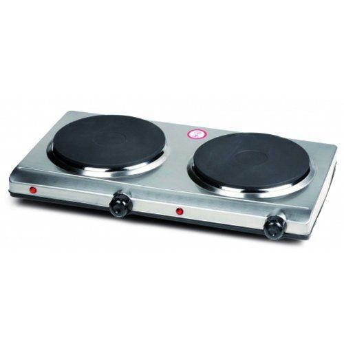 Domo Do-311Kpdomo Plaque Électrique Inox 2 Feux 1500W + 1500W: Dimensions: 9 x 28 x 47 cm Double plaque de cuisson à induction Grande…