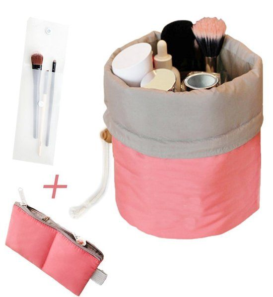 Make Up Organizer – Make Up Etui - Reis Organizer voor Cosmetica en Accessoires – Knijpzak - Roze