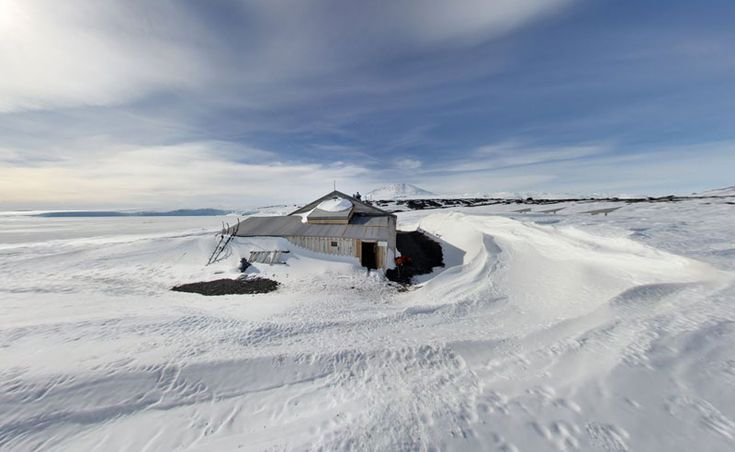La cabaña de Scott, Cabo Evans en la Isla Ross
