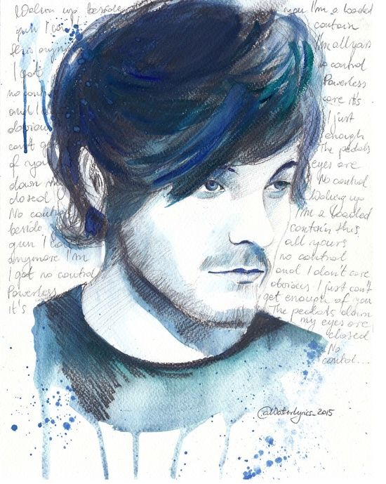 "Louis Tomlinson and ""No Control"" lyrics Art Print"