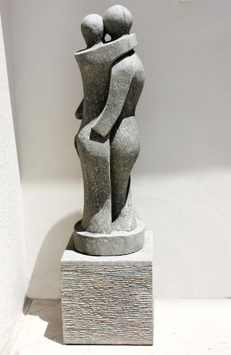 best  stone statues ideas on pinterest  statues lion  - true love modern art stone statue large garden sculpture buy now at http