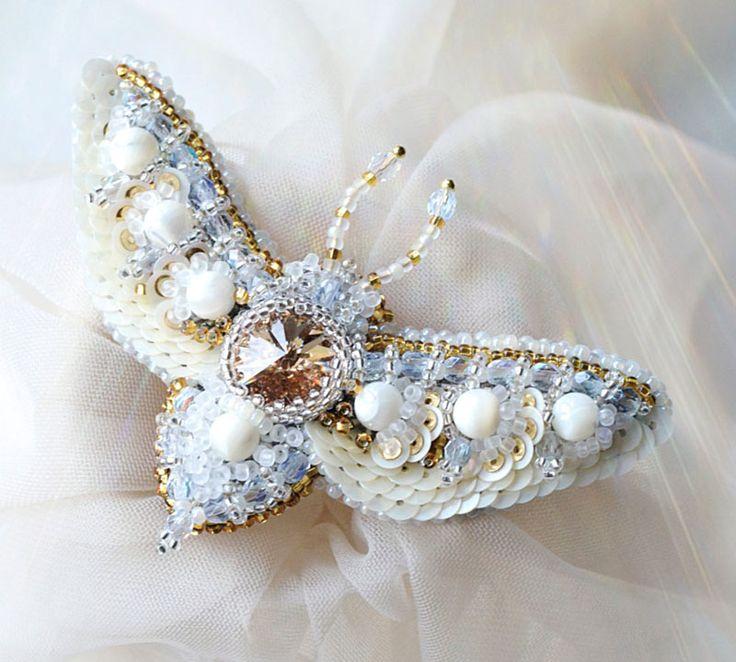 Вышивка бисером. Бабочки Agija Rezcova