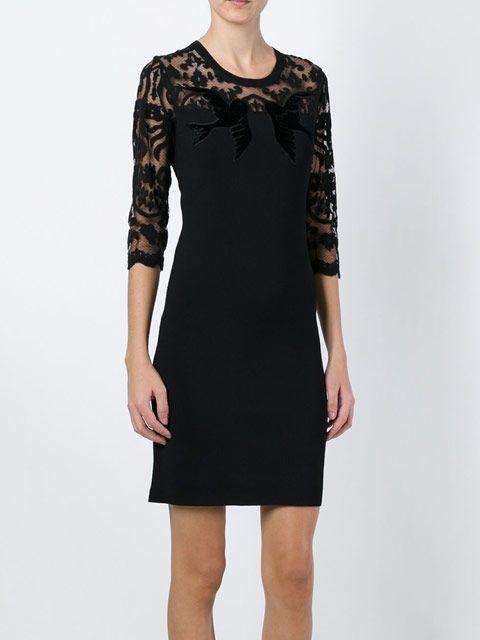 Sonia By Sonia Rykiel : Sheer Lace Sleeve Dress