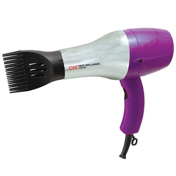 The Chi Deep Brilliance Hair Dryer is the best blow dryer for natural hair with a comb attachment.