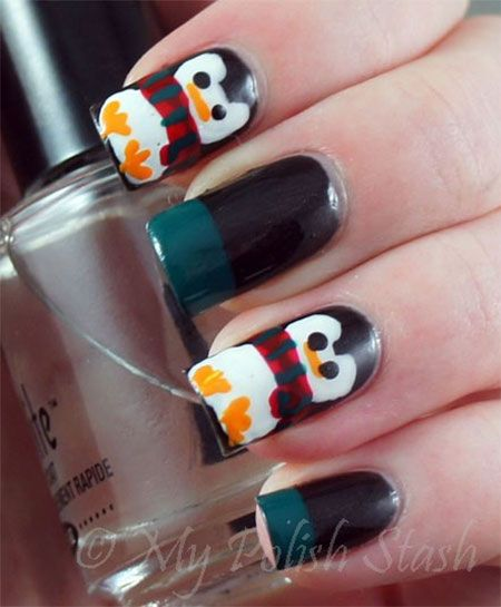 Penguin Nail Art Designs: Simple Penguin Nail Art Designs Ideas 2013 2014 10 Simple