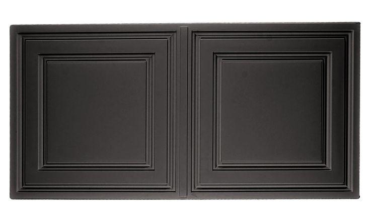 Black Stratford 2x4 Ceiling Tile