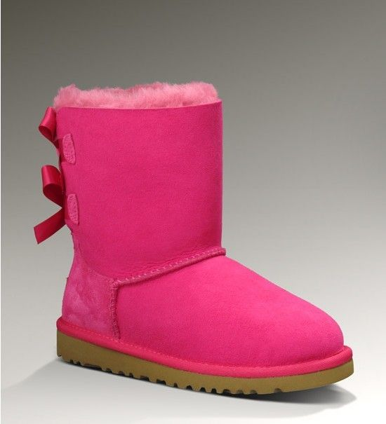 2014frbottestyles.com  Bottes Ugg Bailey Bow 1002954 Peach Rose/Pink Ugg1130 France