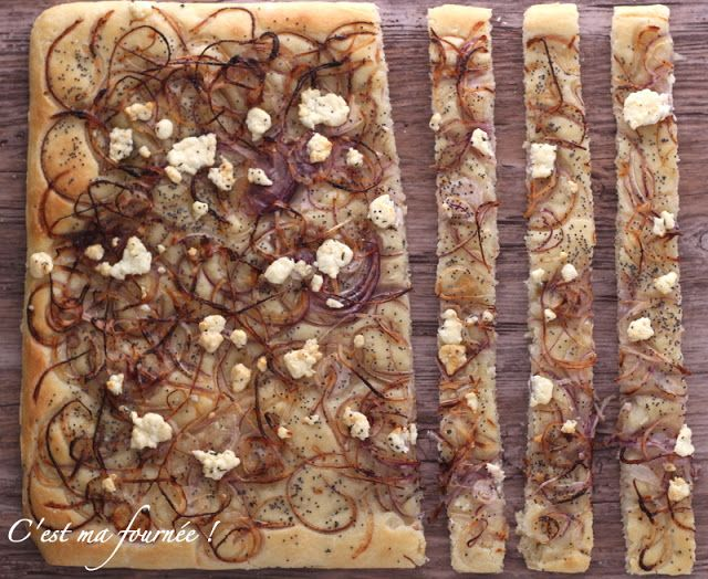 C'est ma fournée !: La focaccia aux oignons et féta d'Ottolenghi