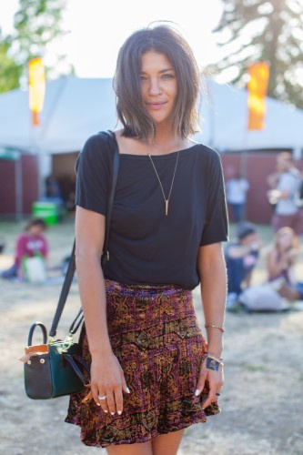 Jessica Szohr is festival Chic in FL India Mini Skirt