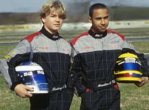 Lewis Hamilton and Nico Rosberg in 2000