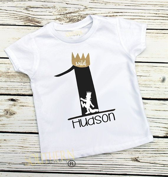King of all wild things first birthday shirt King Wild Boy first birthday Crown birthday shirt Wild One Birthday Boy birthday outfit