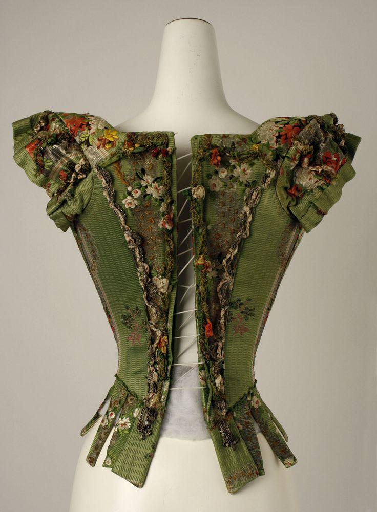 Bodice Date: 18th century Culture: European Medium: silk, metal thread