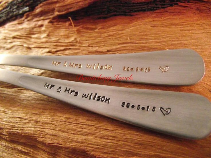 Wedding Spoons Great gift idea for your guests. #bewitchingjewels www.fb.com/bewitchingjewels