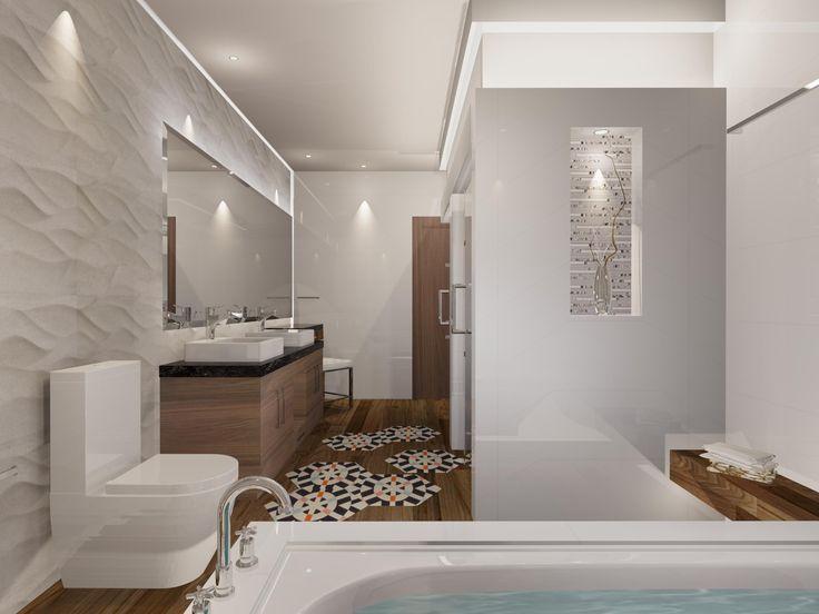 Cuarto de ba o de estilo contempor neo materiales for Catalogo cuartos de bano