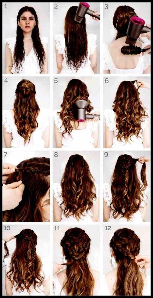 Neues Von Frisuren Mit Locken Und Geflochten Offene Haare Offen