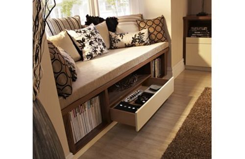 17 Best Images About Clever Living Room Storage Ideas On