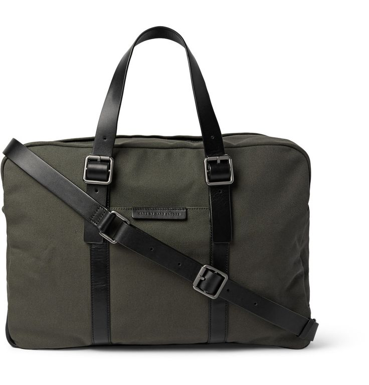 Marc by Marc Jacobs - Leather-Trimmed Cotton-Canvas Weekender Bag|MR PORTER