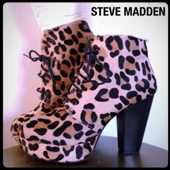 Steve Madden Raspy Platform Bootie Leopard/Animal Tower over the  competition. Long laces secure