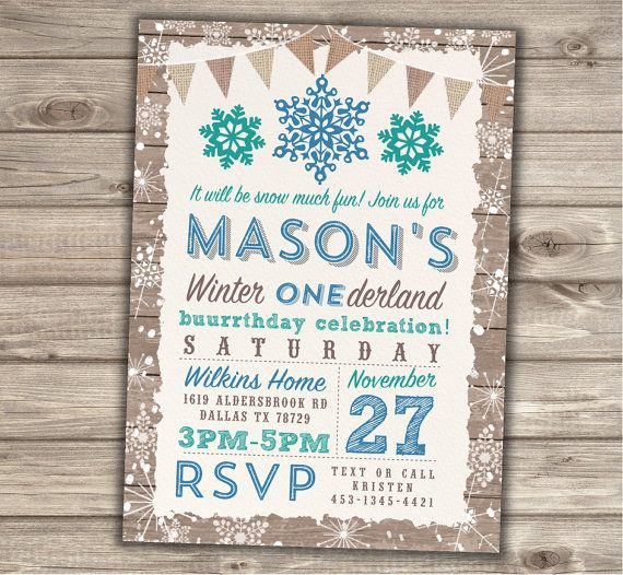 Hey, I found this really awesome Etsy listing at https://www.etsy.com/listing/256274054/boy-winter-onederland-invitations