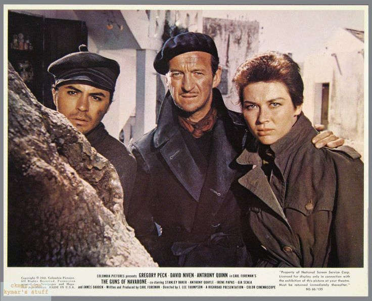 #Sixties | James Darren, David Niven and Gia Scala in The Guns of Navarone, 1961