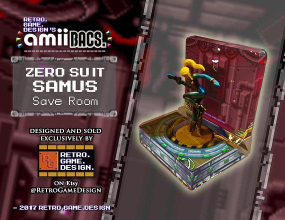 Super Smash Bros Zero Suit Samus AmiiBac (Save Room)