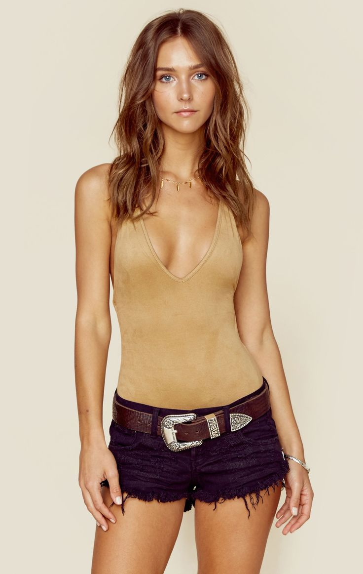 SUEDE BOOGIE NIGHTS BODY SUIT | our fave color: NUDE - @ShopPlanetBlue