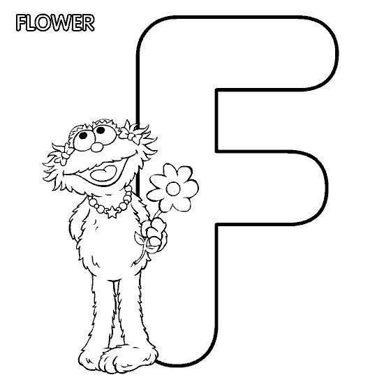 Letter F Coloring Pictures : 15 best color me images on pinterest