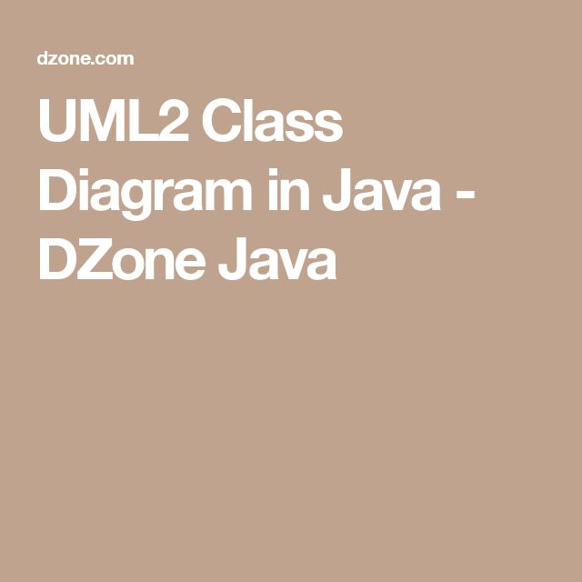 UML2 Class Diagram in Java - DZone Java
