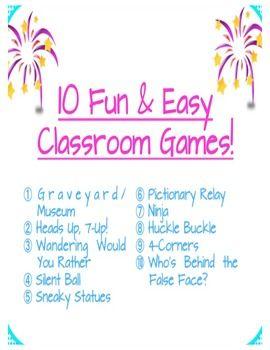 25+ best ideas about Classroom games on Pinterest | Fun classroom ...