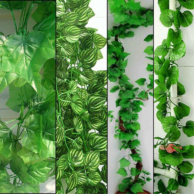230 cm de comprimento 4 estilos plantas artificiais Green Ivy folhas de uva Artificial Vine falso folhagem sai de casa decoração de casamento em Flores & coroas decorativas de Casa & jardim no AliExpress.com   Alibaba Group